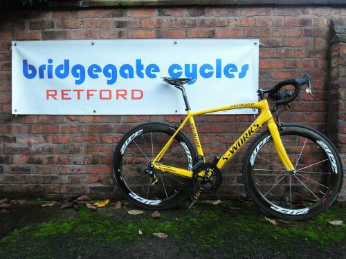 SPECIALIZED SWORKS PROJECT YELLOW TARMAC SL3